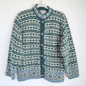 Vintage LL Bean Wool Blend Button Front Cardigan